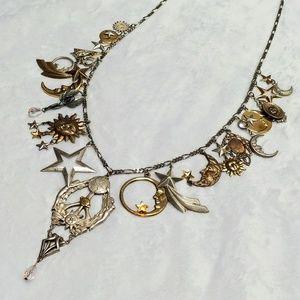 🌞 Vintage 🌔 Celestial 🌠 Charm Necklace